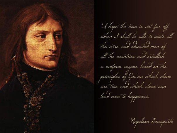 bonaparte muslim Napoléon bonaparte  her erklærte han seg selv som en troende muslim og at han faktisk var mer troende enn de tyrkiske mamelukkene «in the name of god,.